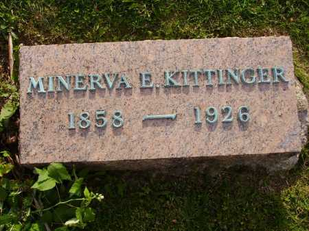 MILLER KITTINGER, MINERVA E. - Stark County, Ohio | MINERVA E. MILLER KITTINGER - Ohio Gravestone Photos