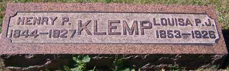 KLEMP, LOUISA P.J. - Stark County, Ohio | LOUISA P.J. KLEMP - Ohio Gravestone Photos