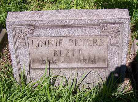 KLETT, LINNIE PETERS - Stark County, Ohio | LINNIE PETERS KLETT - Ohio Gravestone Photos