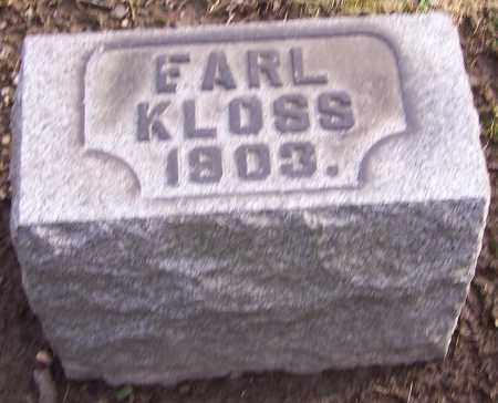 KLOSS, EARL - Stark County, Ohio | EARL KLOSS - Ohio Gravestone Photos