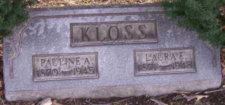 KLOSS, PAULINE A. - Stark County, Ohio | PAULINE A. KLOSS - Ohio Gravestone Photos