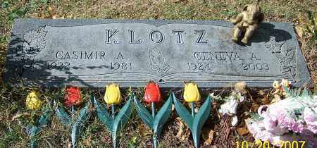 KLOTZ, CASIMIR A. - Stark County, Ohio | CASIMIR A. KLOTZ - Ohio Gravestone Photos