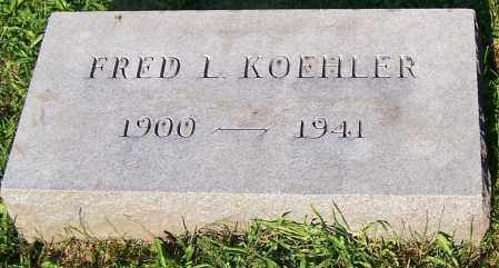 KOEHLER, FRED L. - Stark County, Ohio | FRED L. KOEHLER - Ohio Gravestone Photos