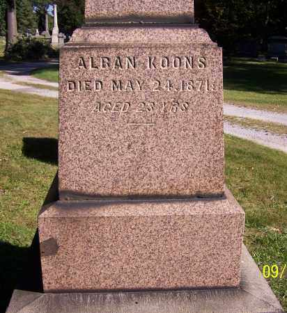 KOONS, ALBAN - Stark County, Ohio | ALBAN KOONS - Ohio Gravestone Photos