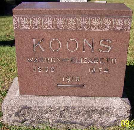KOONS, ELIZABETH - Stark County, Ohio | ELIZABETH KOONS - Ohio Gravestone Photos