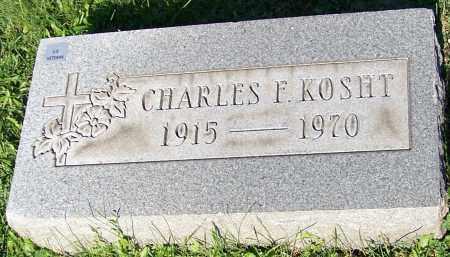 KOSHT, CHARLES F. - Stark County, Ohio | CHARLES F. KOSHT - Ohio Gravestone Photos