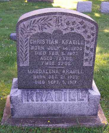KRABILL, CHRISTIAN - Stark County, Ohio | CHRISTIAN KRABILL - Ohio Gravestone Photos
