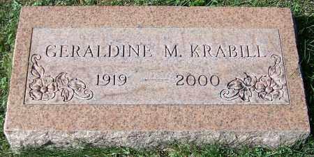 KRABILL, GERALDINE M. - Stark County, Ohio | GERALDINE M. KRABILL - Ohio Gravestone Photos