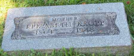 KROPP, ELIZABETH - Stark County, Ohio | ELIZABETH KROPP - Ohio Gravestone Photos