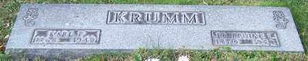 KRUMM, KARL F. - Stark County, Ohio | KARL F. KRUMM - Ohio Gravestone Photos