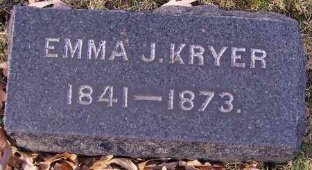 KRYER, EMMA J. - Stark County, Ohio | EMMA J. KRYER - Ohio Gravestone Photos