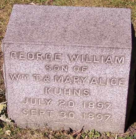 KUHNS, GEORGE WILLIAM - Stark County, Ohio | GEORGE WILLIAM KUHNS - Ohio Gravestone Photos