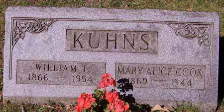 KUHNS, MARY ALICE COOK - Stark County, Ohio | MARY ALICE COOK KUHNS - Ohio Gravestone Photos