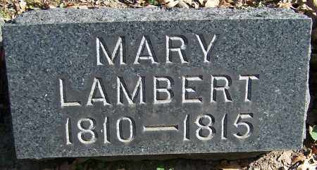 LAMBERT, MARY - Stark County, Ohio | MARY LAMBERT - Ohio Gravestone Photos