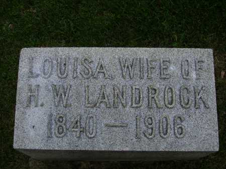 OLIVER LANDROCK, LOUISA - Stark County, Ohio | LOUISA OLIVER LANDROCK - Ohio Gravestone Photos