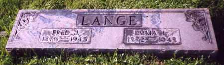 LANGE, FRED J. - Stark County, Ohio | FRED J. LANGE - Ohio Gravestone Photos