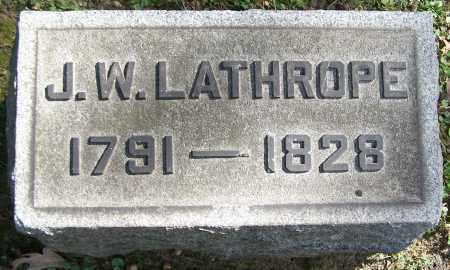 LATHROPE, J.W. - Stark County, Ohio | J.W. LATHROPE - Ohio Gravestone Photos