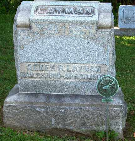 MCGUIRE LAYMAN, AGNES B - Stark County, Ohio | AGNES B MCGUIRE LAYMAN - Ohio Gravestone Photos