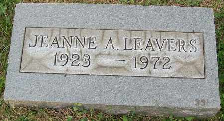LEAVERS, JEANNE A. - Stark County, Ohio | JEANNE A. LEAVERS - Ohio Gravestone Photos