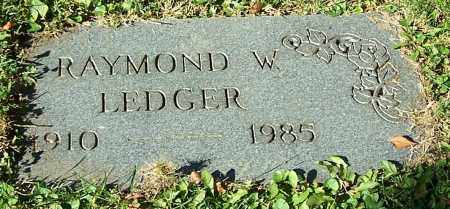 LEDGER, RAYMOND W. - Stark County, Ohio | RAYMOND W. LEDGER - Ohio Gravestone Photos