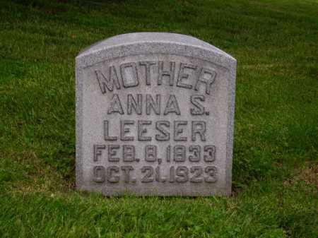 LEHMAN LEESER, ANNA S. - Stark County, Ohio | ANNA S. LEHMAN LEESER - Ohio Gravestone Photos