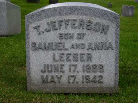 LEESER, T. JEFFERSON - Stark County, Ohio | T. JEFFERSON LEESER - Ohio Gravestone Photos