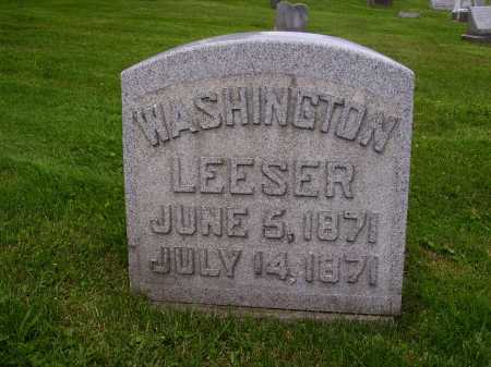 LEESER, WASHINGTON - Stark County, Ohio | WASHINGTON LEESER - Ohio Gravestone Photos