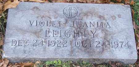 LEIGHTY, VIOLET JUANITA - Stark County, Ohio | VIOLET JUANITA LEIGHTY - Ohio Gravestone Photos