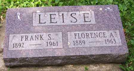 LEISE, FRANK S. - Stark County, Ohio | FRANK S. LEISE - Ohio Gravestone Photos