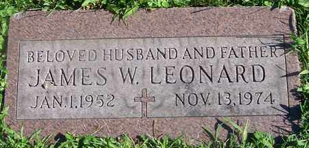 LEONARD, JAMES W. - Stark County, Ohio | JAMES W. LEONARD - Ohio Gravestone Photos