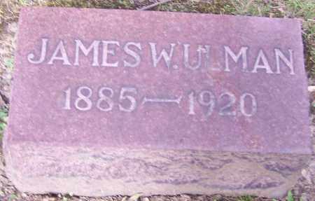 ULMAN, JAMES W. - Stark County, Ohio   JAMES W. ULMAN - Ohio Gravestone Photos