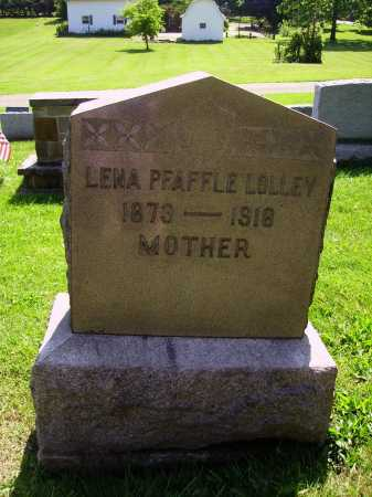 PFAFFLE LOLLEY, LENA - Stark County, Ohio | LENA PFAFFLE LOLLEY - Ohio Gravestone Photos