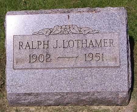 LOTHAMER, RALPH J. - Stark County, Ohio | RALPH J. LOTHAMER - Ohio Gravestone Photos