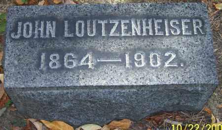 LOUTZENHEISER, JOHN - Stark County, Ohio | JOHN LOUTZENHEISER - Ohio Gravestone Photos