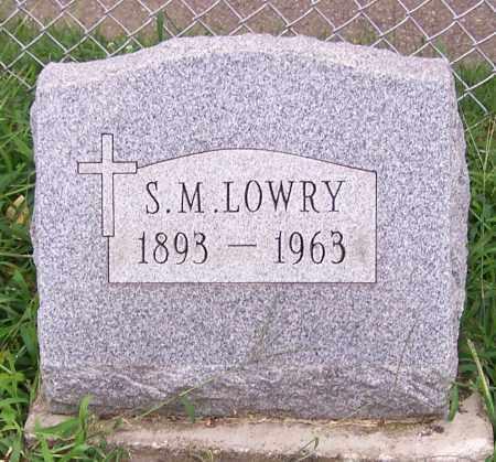 LOWRY, S.M. - Stark County, Ohio | S.M. LOWRY - Ohio Gravestone Photos