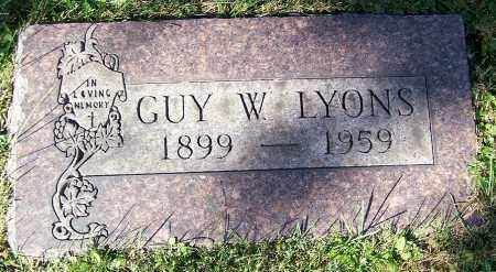 LYONS, GUY W. - Stark County, Ohio | GUY W. LYONS - Ohio Gravestone Photos