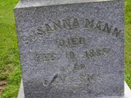 MANN, SUSANNA - Stark County, Ohio | SUSANNA MANN - Ohio Gravestone Photos