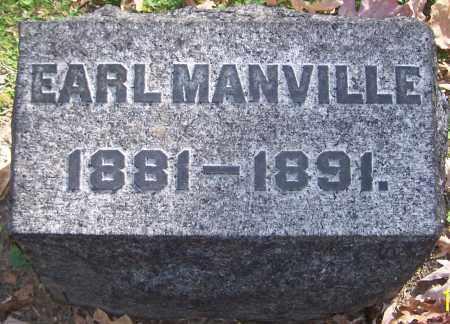 MANVILLE, EARL - Stark County, Ohio | EARL MANVILLE - Ohio Gravestone Photos