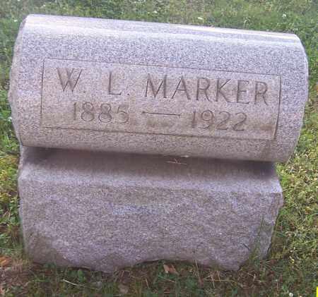 MARKER, W.L. - Stark County, Ohio | W.L. MARKER - Ohio Gravestone Photos