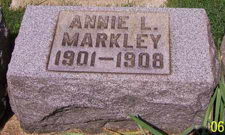 MARKLEY, ANNIE L. - Stark County, Ohio | ANNIE L. MARKLEY - Ohio Gravestone Photos