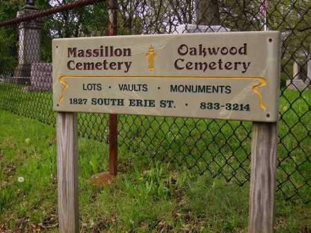 MASSILLON CEMETERY, SIGN - Stark County, Ohio | SIGN MASSILLON CEMETERY - Ohio Gravestone Photos