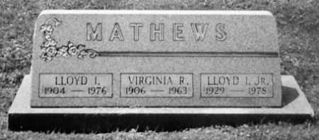 MATHEWS, LLOYD I - Stark County, Ohio | LLOYD I MATHEWS - Ohio Gravestone Photos