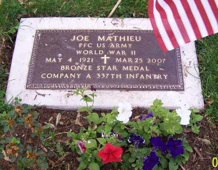 MATHIEU, JOE - Stark County, Ohio | JOE MATHIEU - Ohio Gravestone Photos