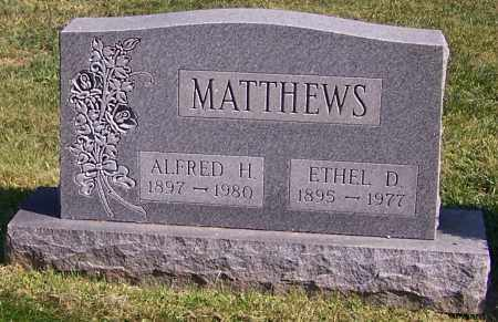 MATTHEWS, ALFRED H. - Stark County, Ohio | ALFRED H. MATTHEWS - Ohio Gravestone Photos
