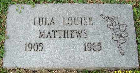 MATTHEWS, LULU LOUISE - Stark County, Ohio | LULU LOUISE MATTHEWS - Ohio Gravestone Photos
