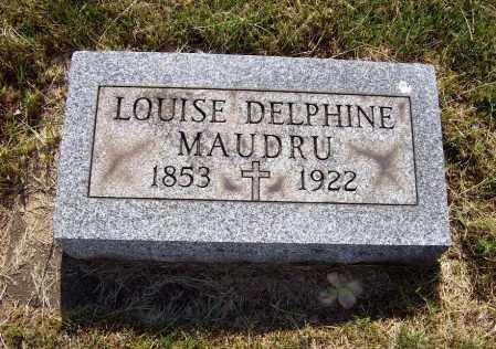 MAUDRU, LOUISE DELPHINE - Stark County, Ohio | LOUISE DELPHINE MAUDRU - Ohio Gravestone Photos
