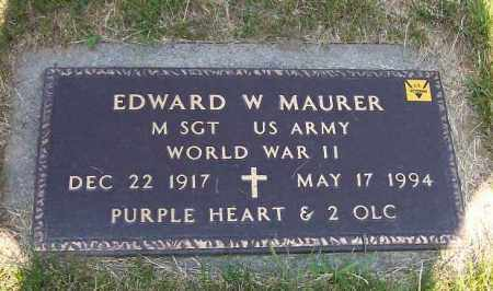 MAURER, EDWARD W - Stark County, Ohio | EDWARD W MAURER - Ohio Gravestone Photos