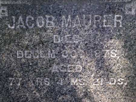 MAURER, JACOB - Stark County, Ohio | JACOB MAURER - Ohio Gravestone Photos