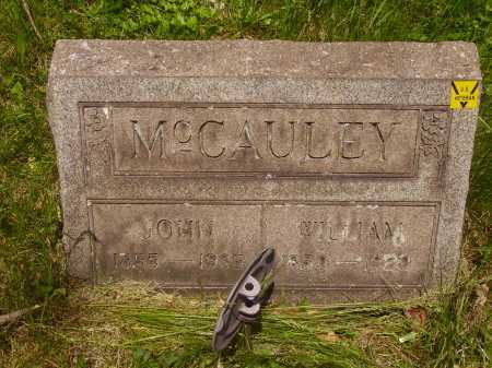 MC CAULEY, WILLIAM - Stark County, Ohio | WILLIAM MC CAULEY - Ohio Gravestone Photos