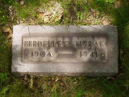 MC RAE, BERDELLE E. - Stark County, Ohio | BERDELLE E. MC RAE - Ohio Gravestone Photos